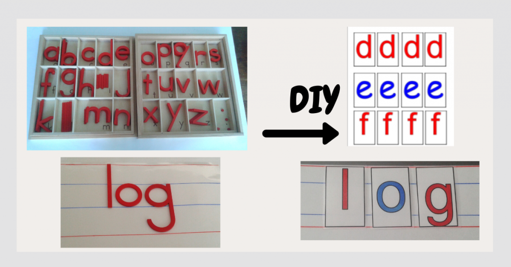 Movable Alphabet Real and DIY with Printables