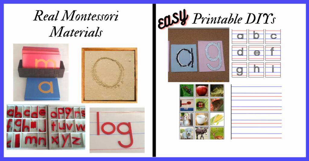 DIY Basic Montessori Materials
