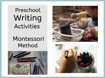 Preschool Writing Activities, Montessori Method