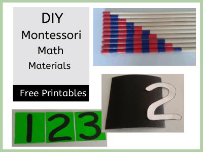 DIY Montessori math material