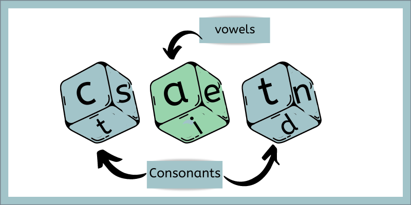 CVC Words building with DIce
