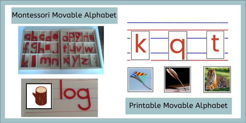 Montessori Movable Alphabet, Real and Printable DIY