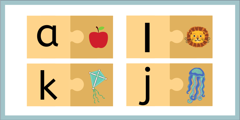Phonics Puzzles for beginning sounds matching activity