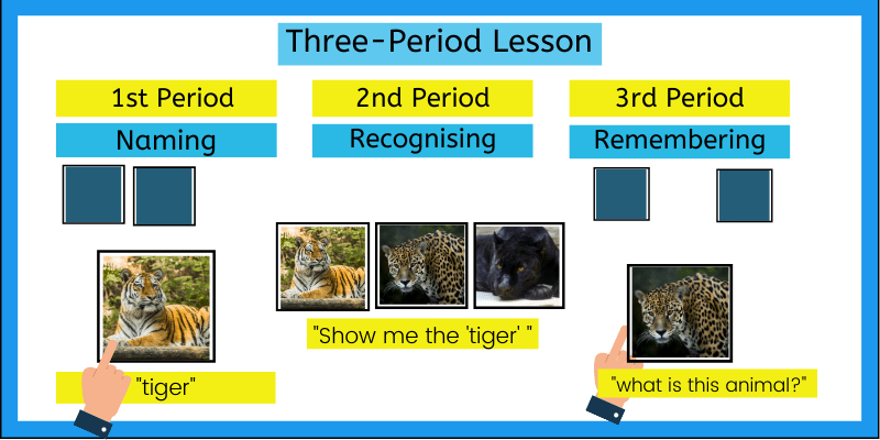 Three Period Lesson, the best technique to teach new words to preschoolers