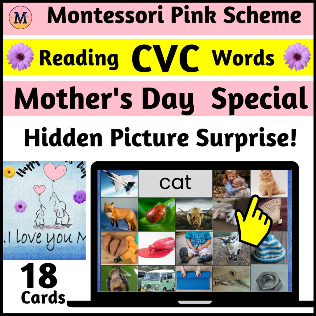 Mother's  Hidden Picture Surprise Digital internet activity