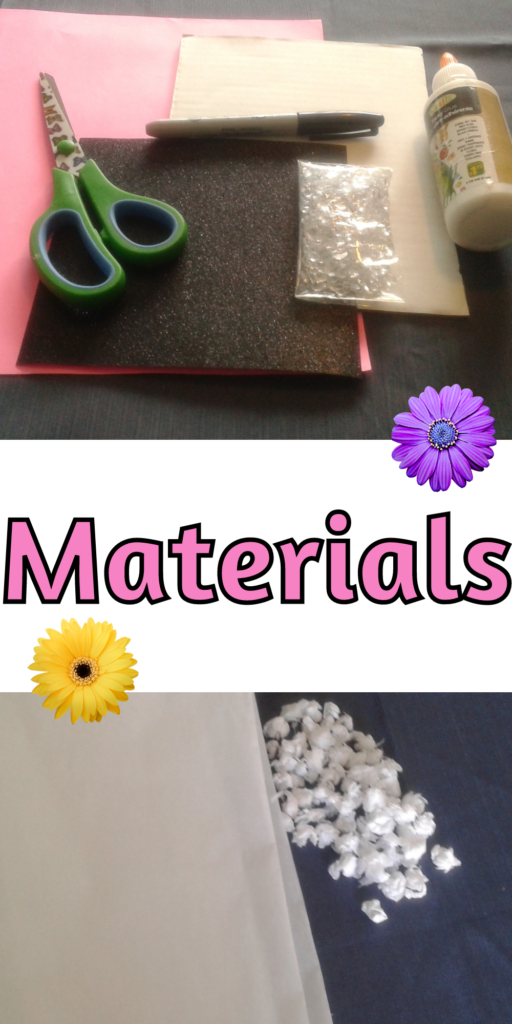 Material for Easy Mother's Day Craft