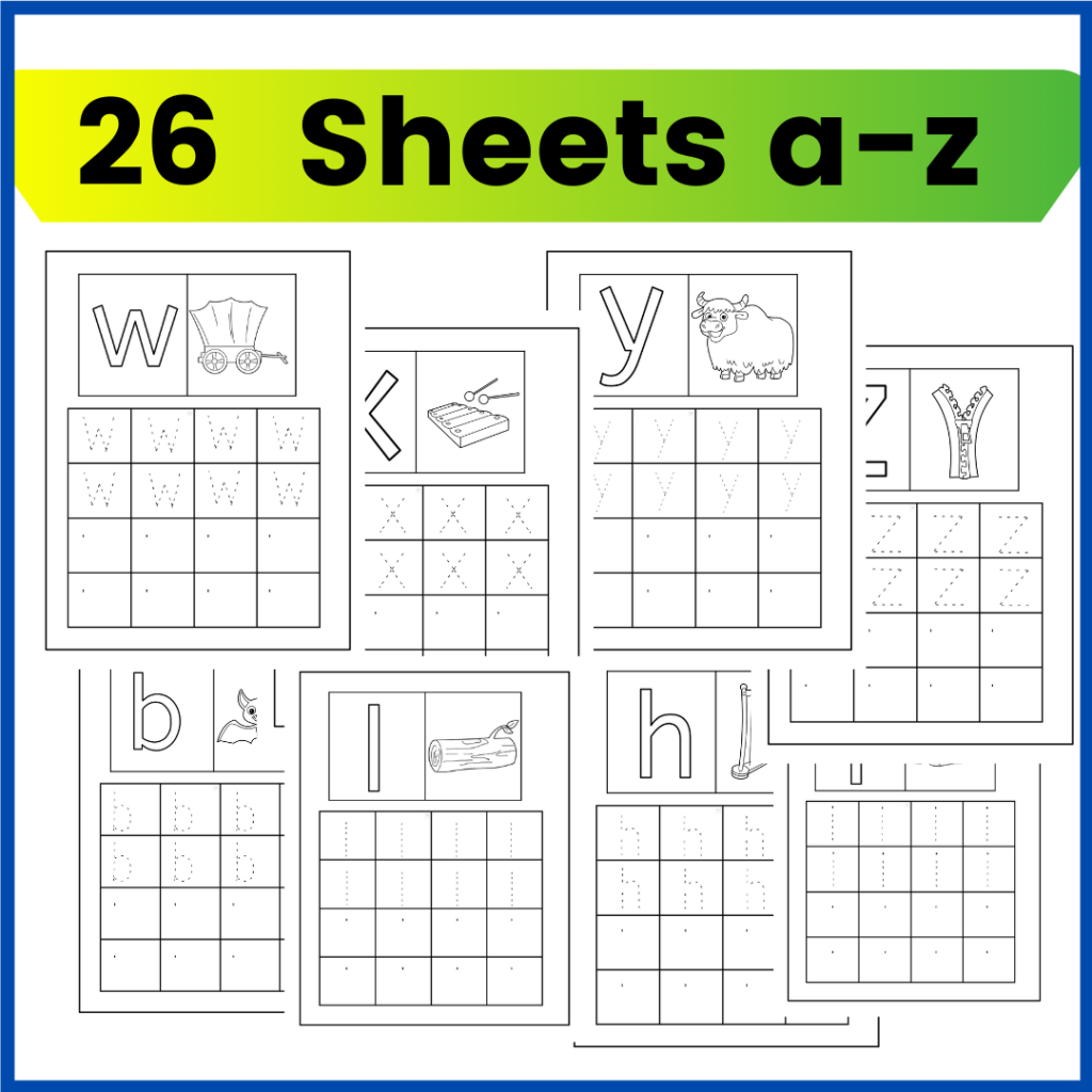 tracing and writing worksheets for preschool and pre-kindergarten writing and alphabet practice