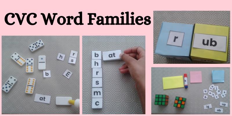 Simple CVC Word family activity for kindergarten to grade 1