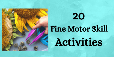 20 Fine Motor Skill Activities