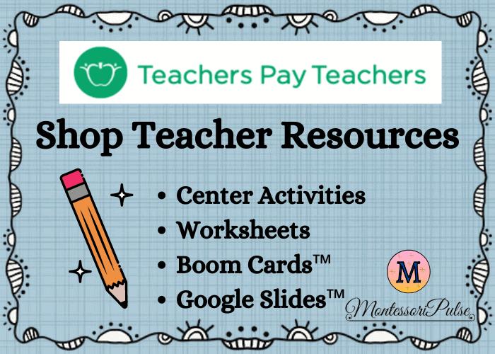 Montessori Pulse Teacher Pay Teachers Shop