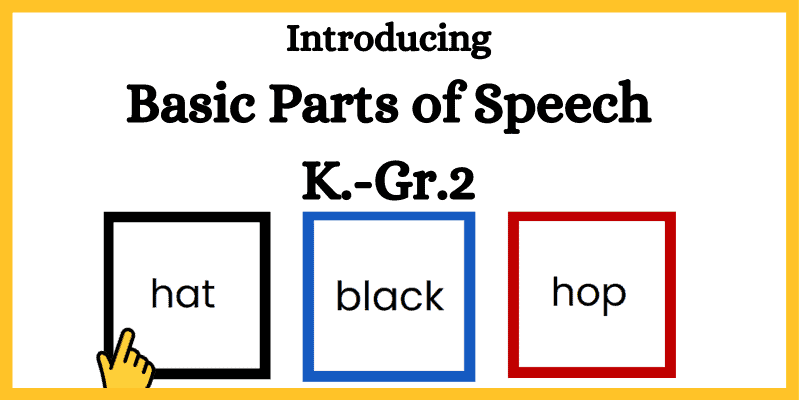 parts of speech for sentence structure